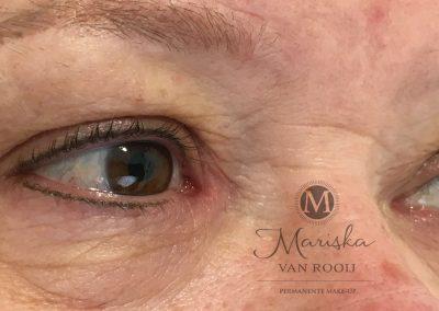 Eyeliner bruin-zwart na 1 behandeling