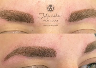 Hairstroke meten na behandeling Mariska van Rooij permanente make-up