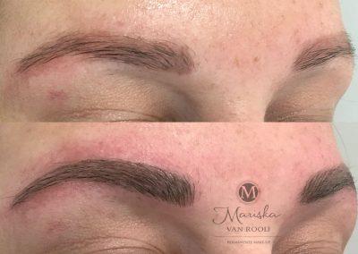 Microblading over oude pmu Mariska van Rooij permanente make-up