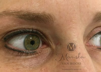 eyeliner resultaat na 1 behandeling